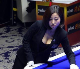 台球美女裁判秀事业线