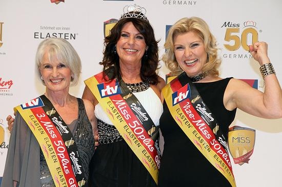 61岁的胡丝-劳歇尔荣获德国资深美女选美的冠军。