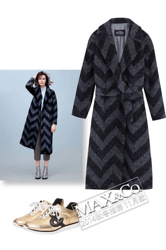 MAX&Co. NATURA时尚裹身大衣