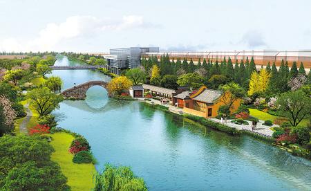 图为鄞西后塘河景观规划设计图。