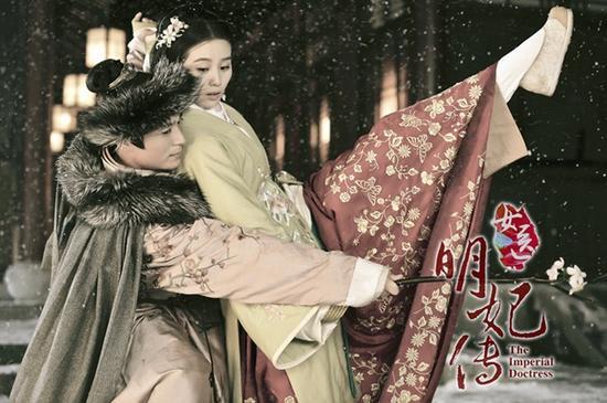 女医明妃传刘诗诗霍建华雪中共舞
