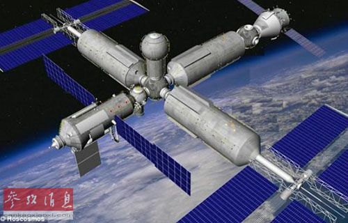 俄罗斯计划建造自己的空间站。此为新空间站想象图。