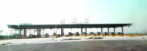 新增的保定北收费站,直通北三环。