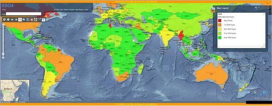 NSA渗透了全球大部分国家的移动通信网络