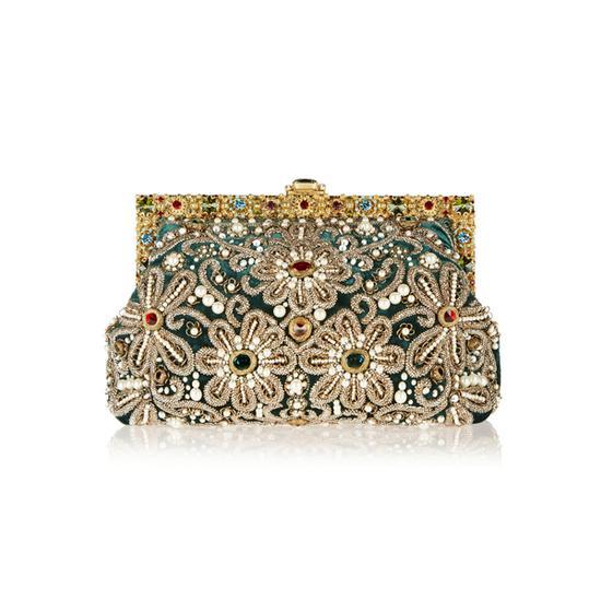 Dolce & Gabbana大号缀饰天鹅绒两用手拿包 参考价格:44,400CNY