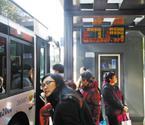 智能电子公交站牌亮相