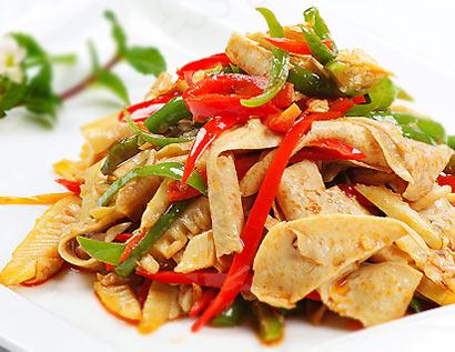 素食推荐:辣椒炒豆皮