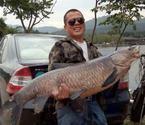 男子一杆钓51斤重大鱼