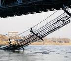 黄河铁索桥被曝断裂沉底