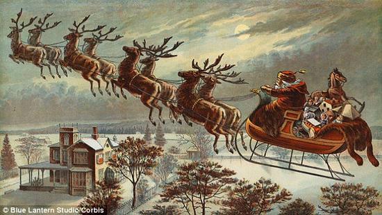 科学家琳达-哈登表示假设圣诞老人没有确定的信仰,他需要在很短的时间内给大约3.78亿儿童上去圣诞礼物。为了完成这项任务,圣诞老人的雪橇需要每秒飞行大约650英里(约合每秒1050公里),是声速的3000倍,光速的0.35%。