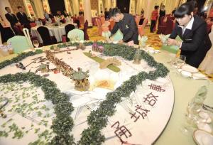 中餐宴会主题摆台技能大赛现场