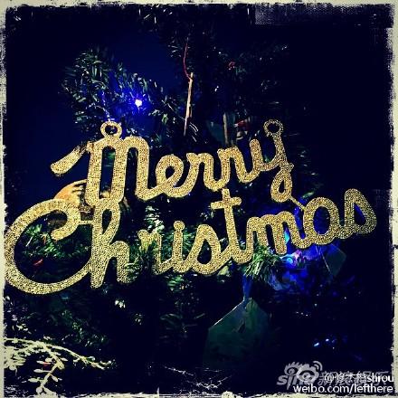 修杰楷晒出同一棵圣诞树