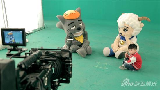 《喜羊羊与灰太狼7》MV拍摄现场