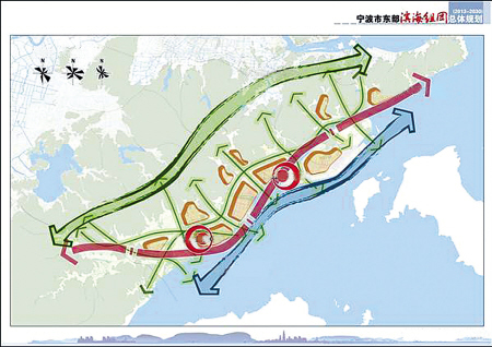 宁波市东部滨海组团总体规划 2013 2030 公示