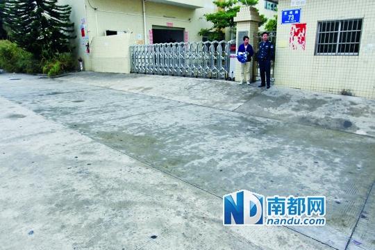 昨日,事发现场的血迹已被清洗干净。南都记者刘有志摄