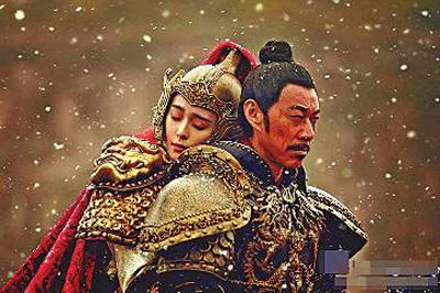《武媚娘传奇》中张丰毅扮演唐太宗,范冰扮演武媚娘