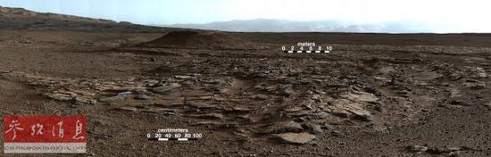 """资料图片:2014年12月9日""""好奇""""号破解火星夏普山成因之谜。 新华/美联"""