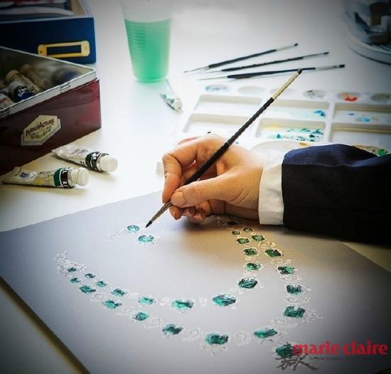 珠宝展示空间手绘图