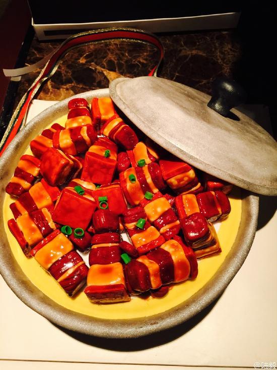 红烧肉蛋糕
