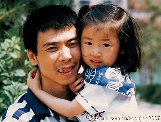 冯小刚和女儿旧照