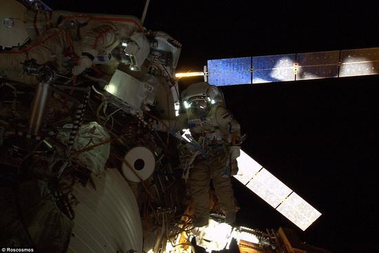 太空行走宇航员斯克沃佐夫和阿尔杰米耶夫8月18日将这个动物围场固定在国际空间站星辰号服务舱外。这些动物将在这里生活18个月。