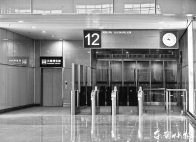 北站房设有无障碍电梯