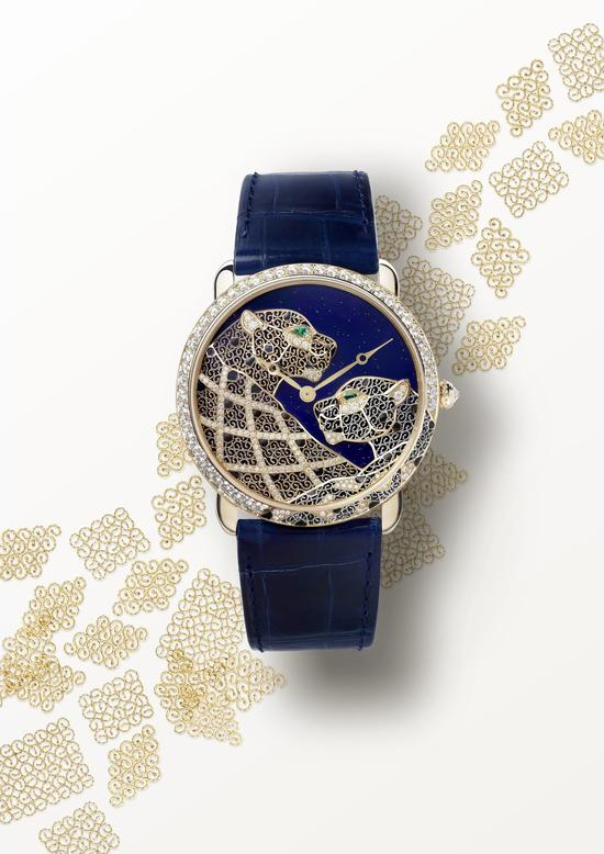 Ronde Louis Cartier金银丝细工腕表