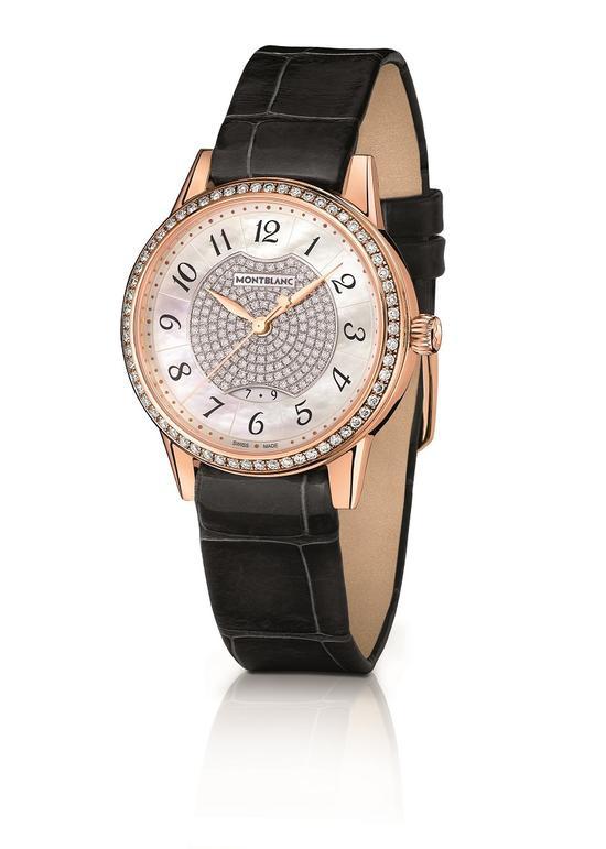 万宝龙宝曦系列日历显示珠宝腕表