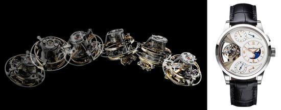 积家389 型手动上链机械机芯,人手制造、组装和装饰,镍银表桥和主夹板