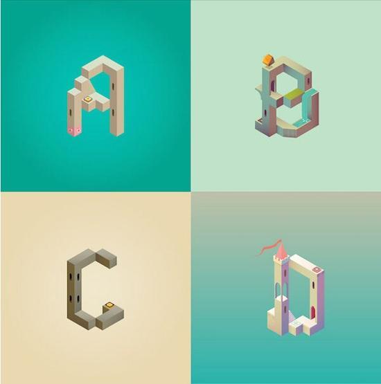 字母ABCD
