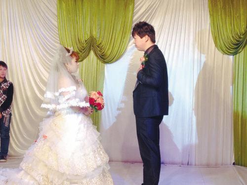 付琳和王哲的婚礼现场