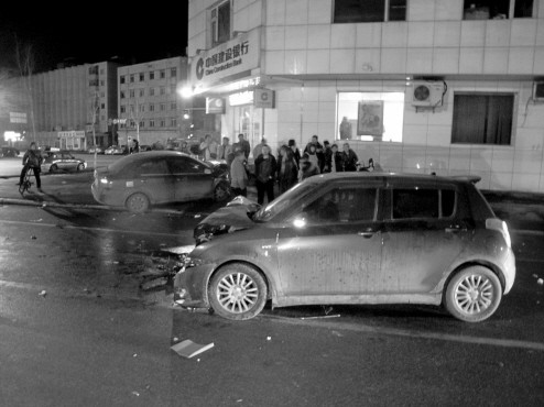 车祸现场。