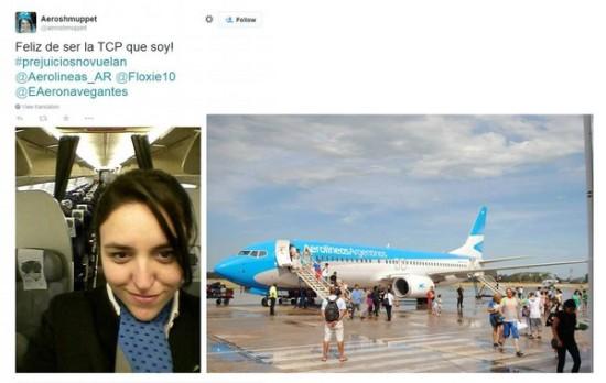 针对顾客留言,有空姐特地在推特上力挺公司。