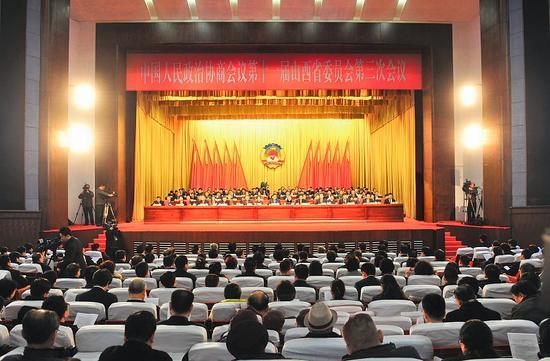 1月31日,省政协十一届三次会议胜利闭幕。图为会场。记者 孙荣祥摄