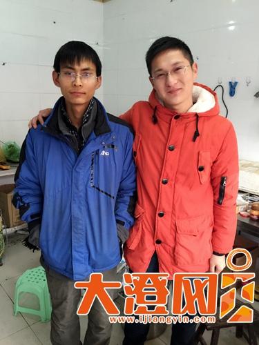 90后小伙刘文彪(左)和徐山杉(右)