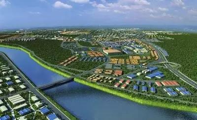 成都市节能环保产业基地鸟瞰图