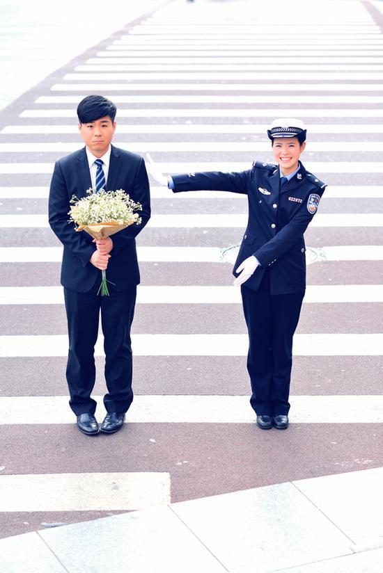 王俊杰(银行职员)朱婷婷(无锡市公安局锡山交警大队民警)