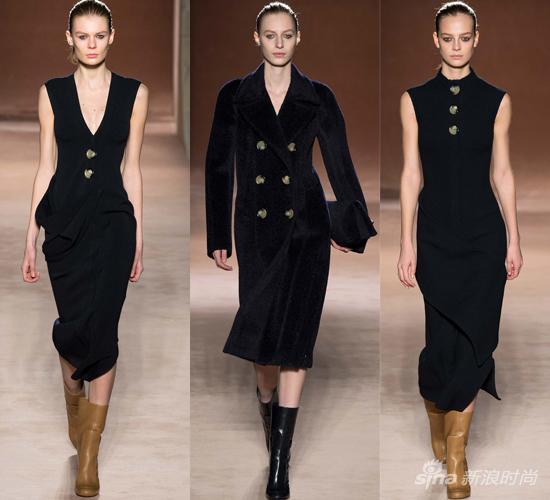 Victoria Beckham 2015秋冬黑色套装