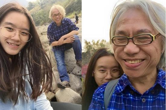 58岁李坤城与18岁小女友林靖恩