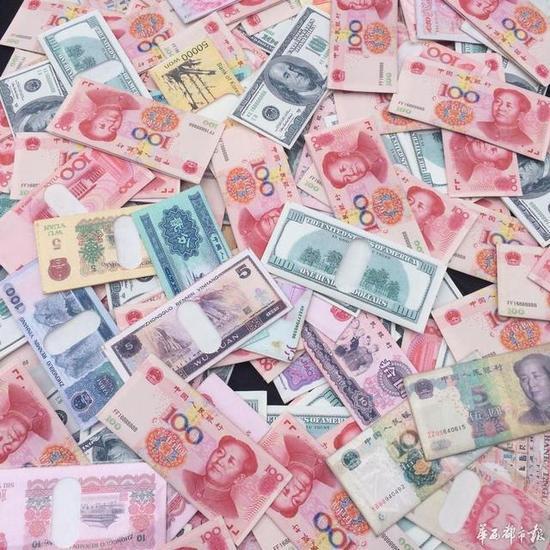 该类型钱包不仅有人民币,还有美元、英镑等多种外币模式。