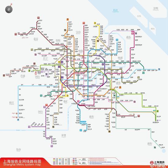 大学生耗时3周绘制2020年上海轨交图