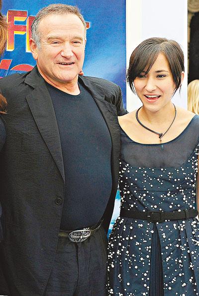 罗宾与女儿 Zelda。