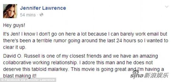 ���斯在Facebook上�l�