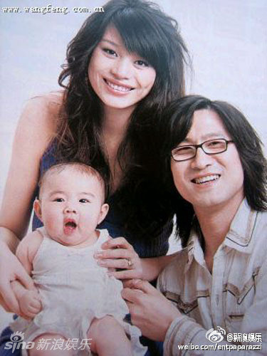 汪峰和前女友葛荟婕、女儿小苹果(资料图)
