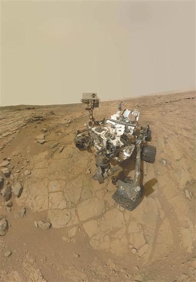 """现在正在火星工作的""""好奇号""""火星车。"""