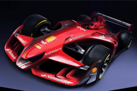 法拉利展示未来formula 1赛车效果图