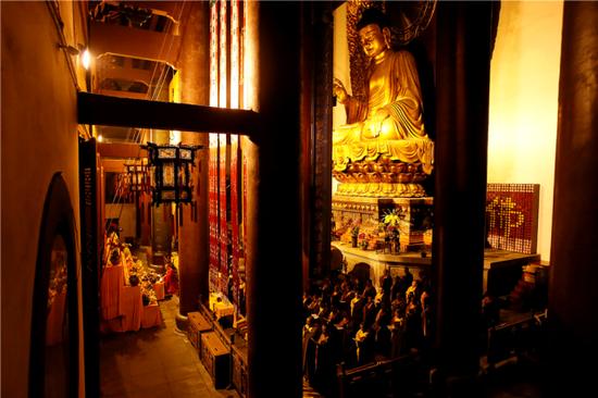 灵隐寺举行供佛斋天祈福法会祈祷风调雨顺国泰民安