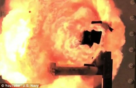 星球大战武器:美海军展示7倍声速轨道炮(图)