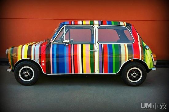 1973经典mini手绘车