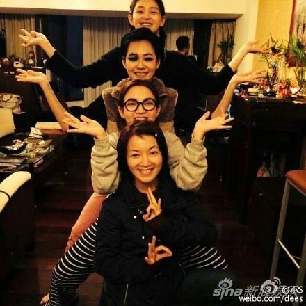 大小S、范晓萱、阿雅姐妹聚会